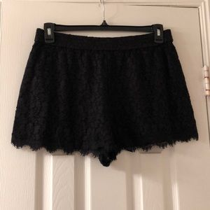DVF lace shorts size 12